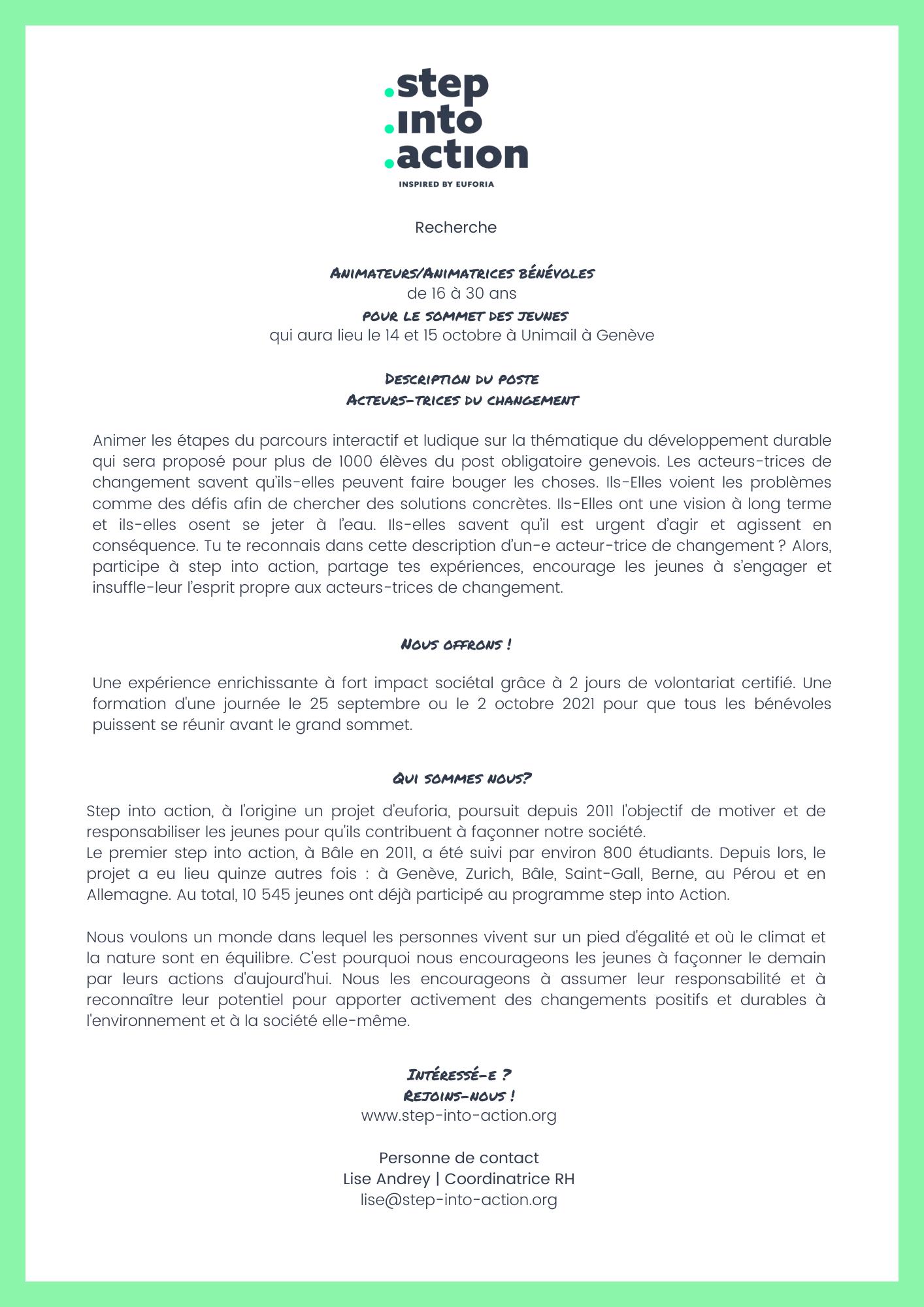 Annonce_step into action_octobre 2021_Genève
